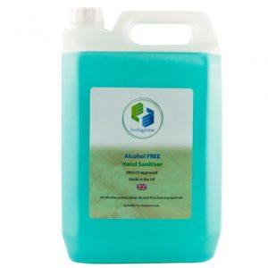 Alcohol FREE Hand Sanitizer 5 litre foaming liquid With Refill Pump + 500 ml foamer bottle