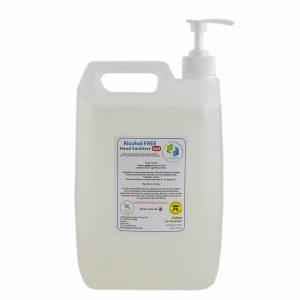 Alcohol FREE Hand Sanitizer 5 litre GEL Professional Range With Refill Pump + 500 ml bottle